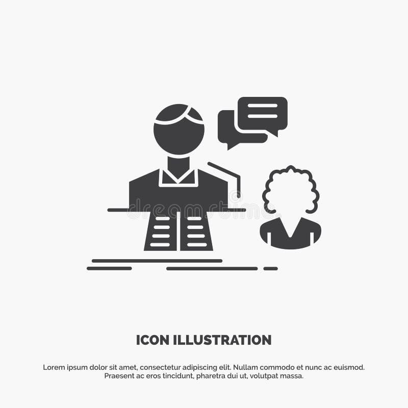consultation, causerie, r?ponse, contact, ic?ne de soutien symbole gris de vecteur de glyph pour UI et UX, site Web ou applicatio illustration de vecteur