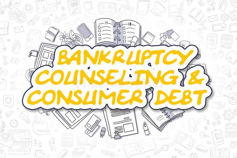 Consultation de faillite et dette des consommateurs - concept d'affaires illustration libre de droits