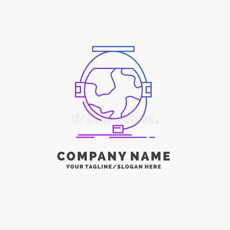 consultation, ?ducation, en ligne, e apprenant, affaires pourpres Logo Template de soutien Endroit pour le Tagline illustration stock