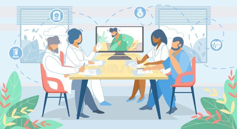 Consultation en ligne éloignée de médecine technologies illustration stock