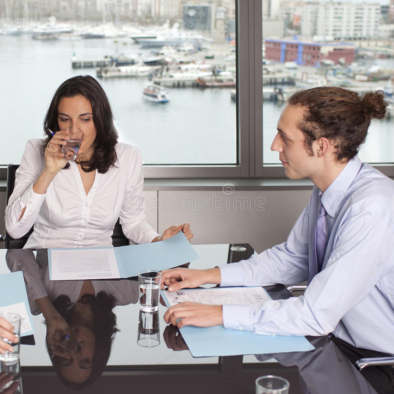 Download Consultation With Financial Adviser Stock Image - Image: 27037975
