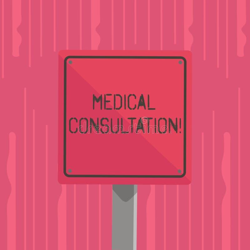 Consultation médicale des textes d'écriture de Word Concept d'affaires pour un rendu de l'avis médical ou de l'opinion profess illustration libre de droits