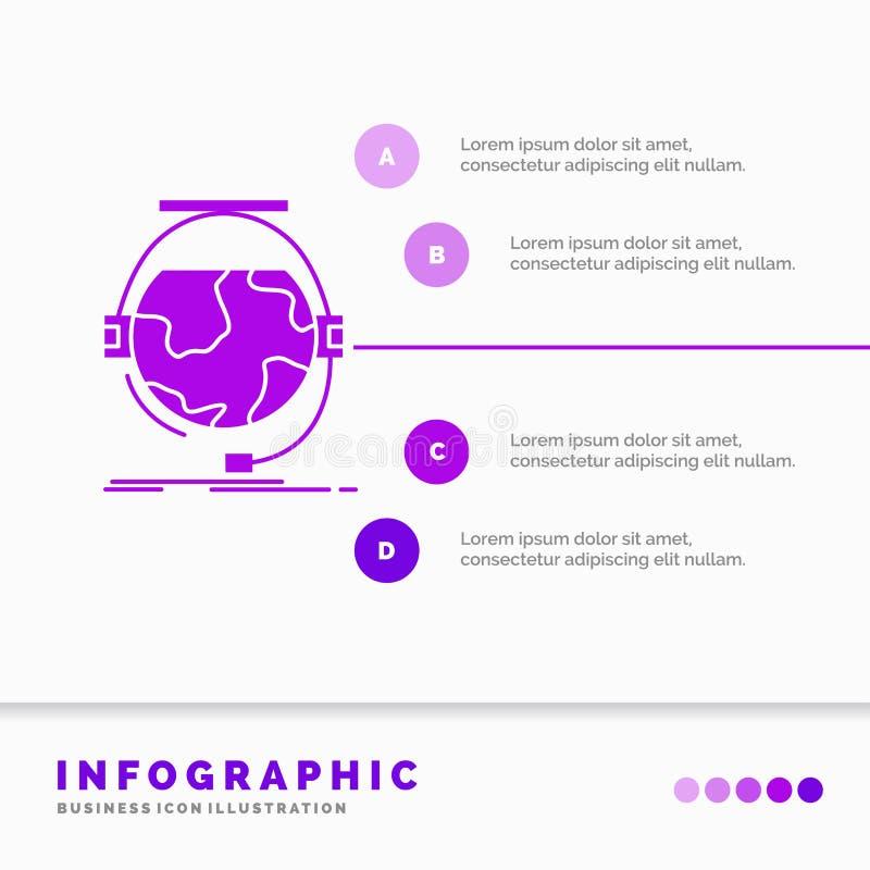 consultation, ?tude d'?ducation, en ligne, d'e, calibre d'Infographics de soutien pour le site Web et pr?sentation Ic?ne pourpre  illustration libre de droits