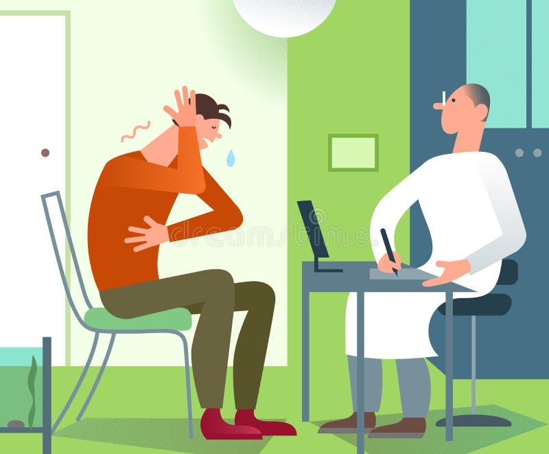 Consultazione paziente dell'ufficio di medico Practitionerher medico royalty illustrazione gratis