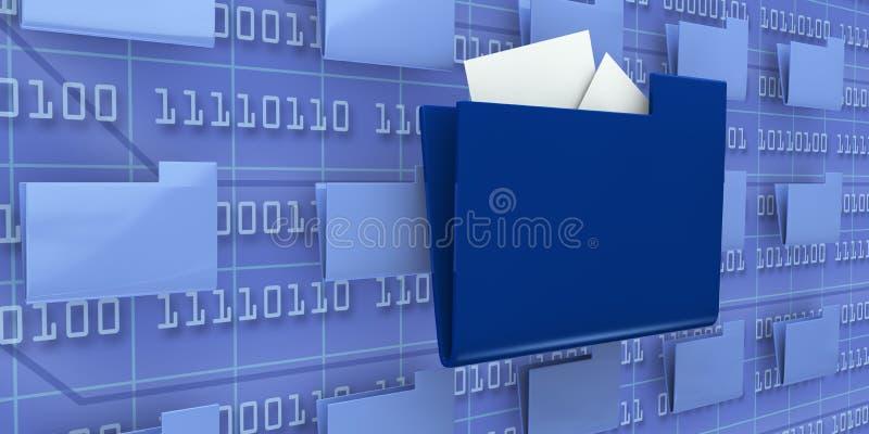 Consulte dados do computador ilustração stock