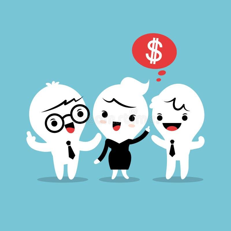 Consulte uma ilustração do conceito da referência do amigo ilustração stock