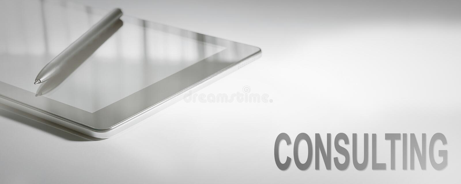 CONSULTING Business Concept Digital Technology. Graphic Concept stock image