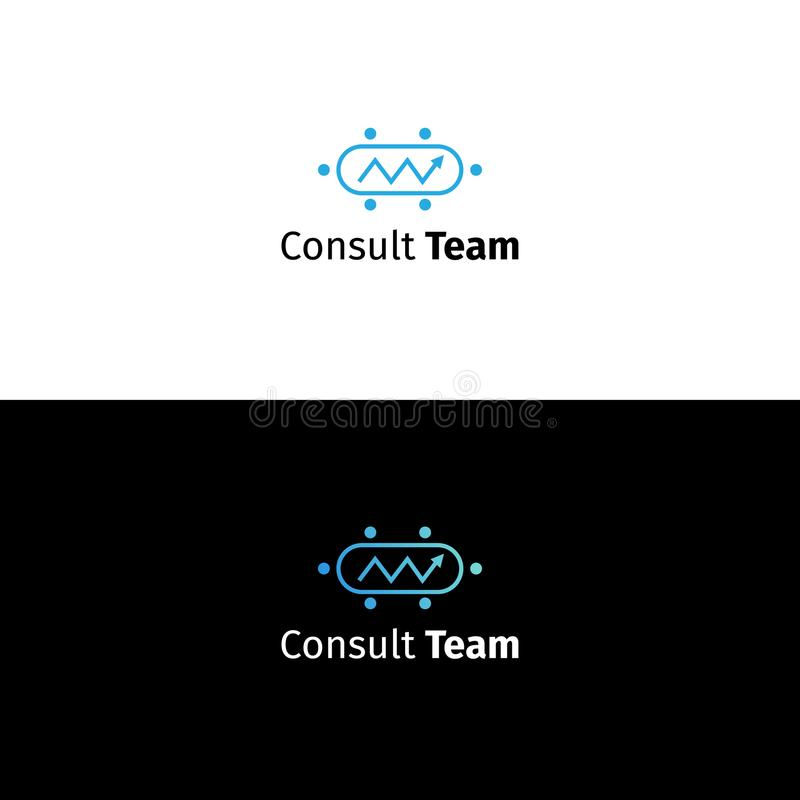 Consulting business logo. Data analytics company sign vector illustration