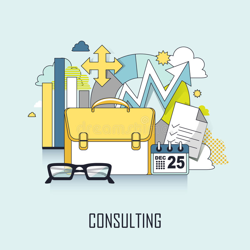 Consulting concept vector illustration