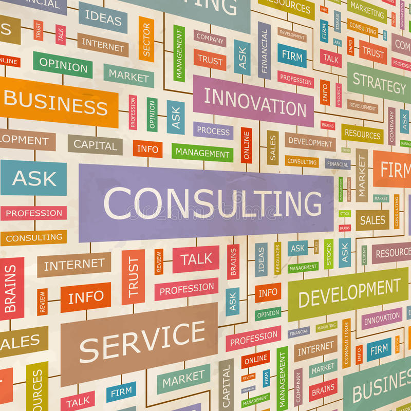 CONSULTING stock illustration
