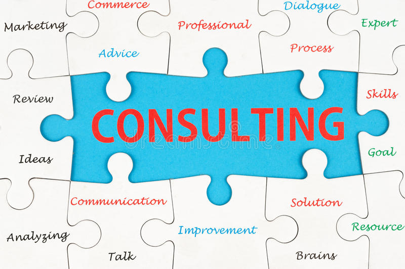 Consulting concept stock photo