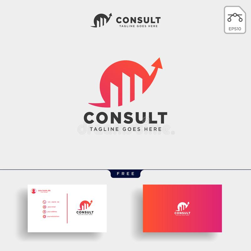 consulting, consult graphic statistic logo template vector illustration royalty free illustration
