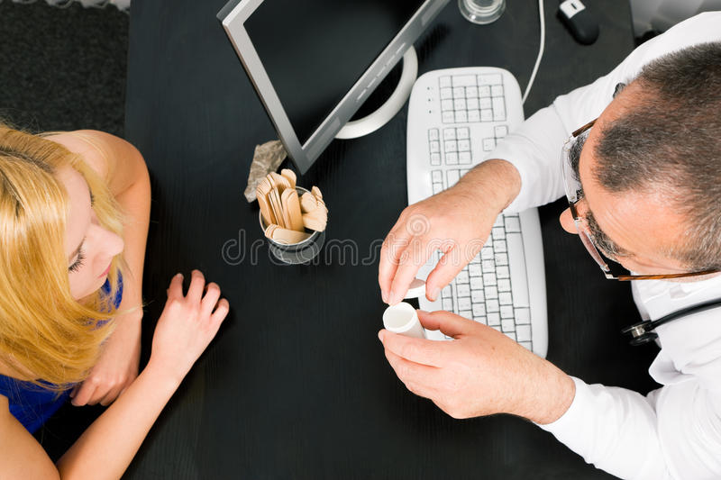Consulting the doctor royalty free stock photos