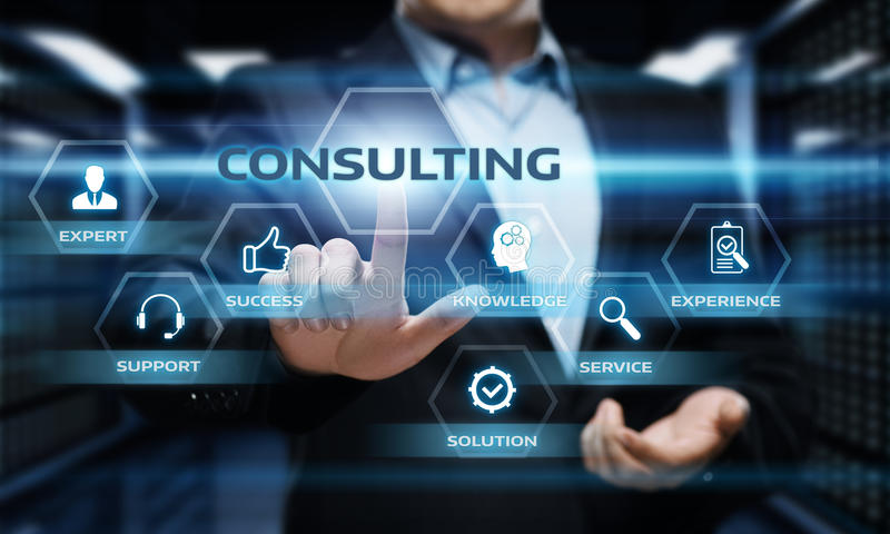 Consulting Expert Advice Support Service Business concept.  royalty free stock photos