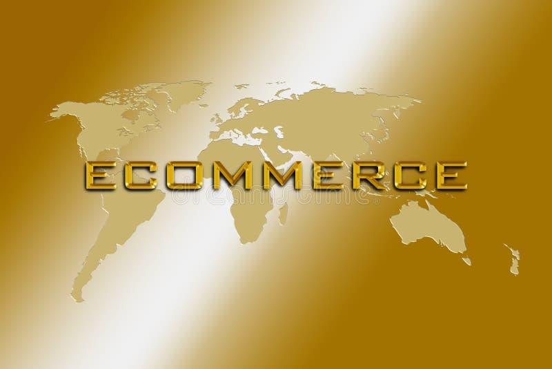 Consulto del mondo di commercio elettronico royalty illustrazione gratis