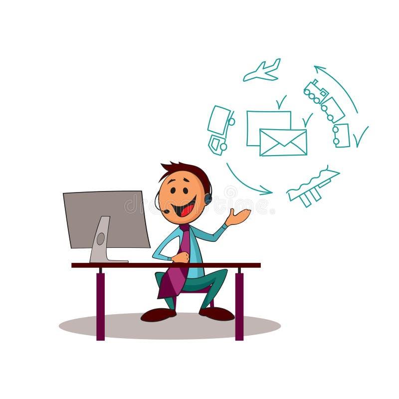 Consultor del servicio de entrega stock de ilustración