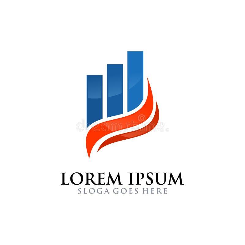 Consultor financiero Template del negocio cooperativo del logotipo ilustración del vector