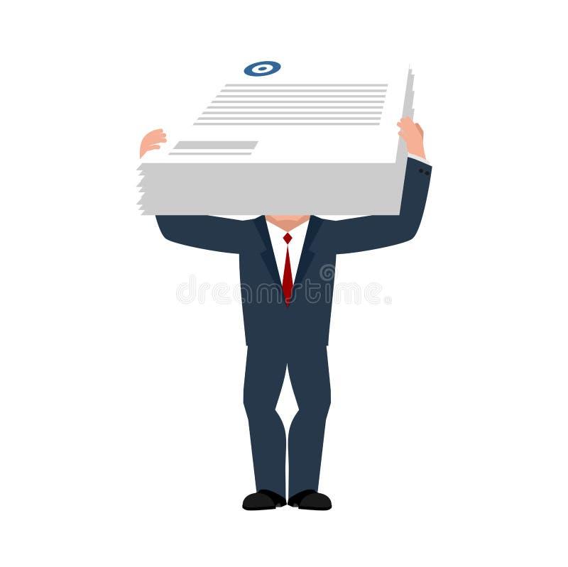 Consultor y documentos de negocio Jefe auxiliar Vector Illust libre illustration