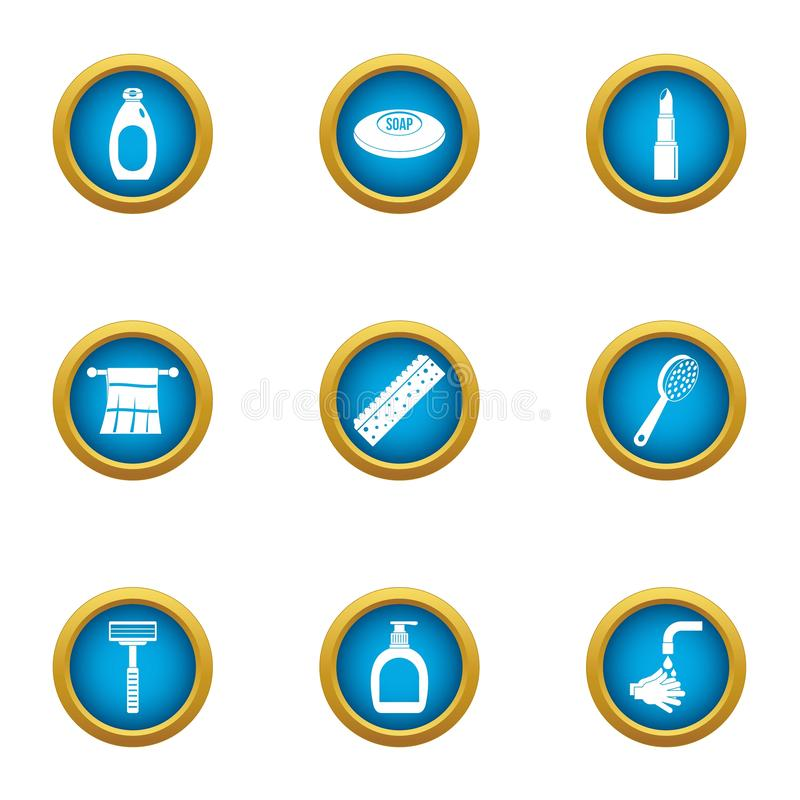 Consumable ikony ustawiać, mieszkanie styl ilustracji