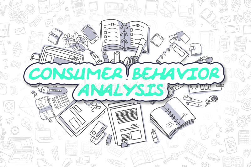 Consumer Behavior Analysis  Business Concept Stock Illustration