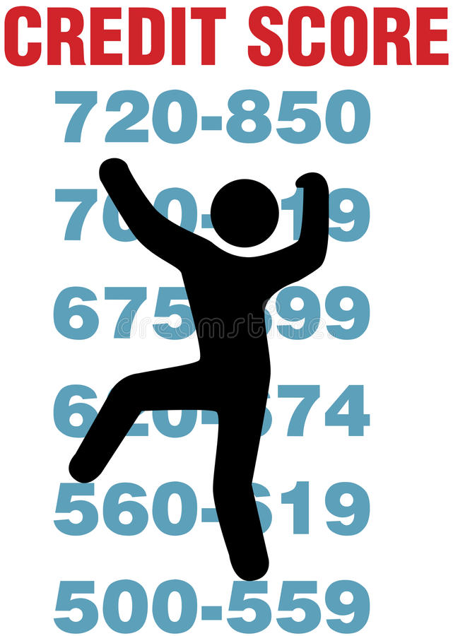 Download Consumer Climbs Up Better Credit Card Score Stock Vector - Image: 22869620