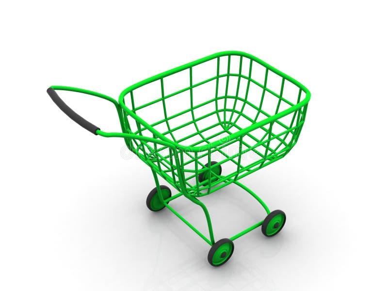 Consumer's basket. 3d vector illustration