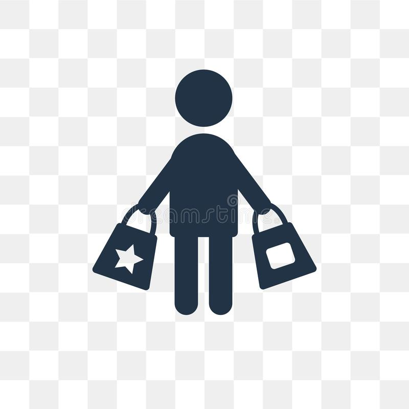 Consumer vector icon isolated on transparent background, Consume vector illustration