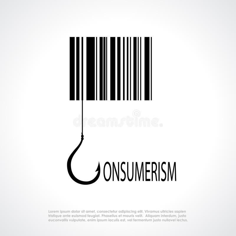 Consumerism poster. Consumerism symbol, vector square poster stock illustration