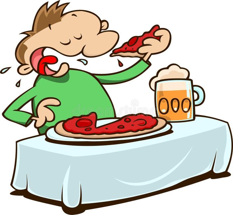 Consumición de la pizza libre illustration