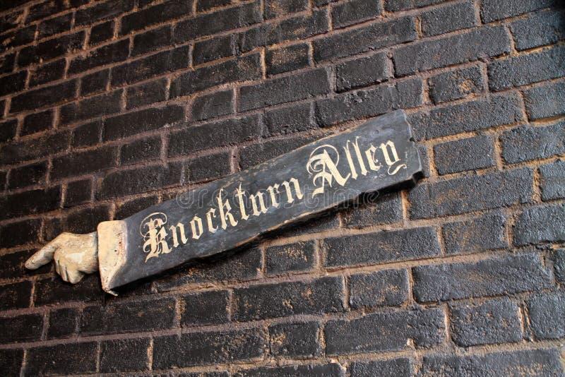 Consumición de los estudios universales de Harry Potter del pasillo imagenes de archivo