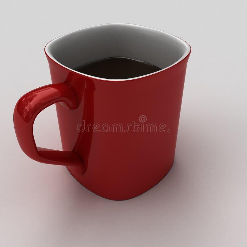 Consumición de una taza caliente de chocolate caliente o de coffe imagen de archivo