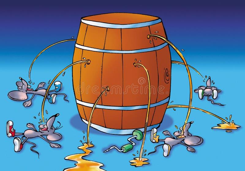 Consumición del ratón ilustración del vector