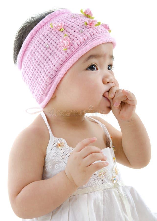 Consumición linda del bebé fotografía de archivo