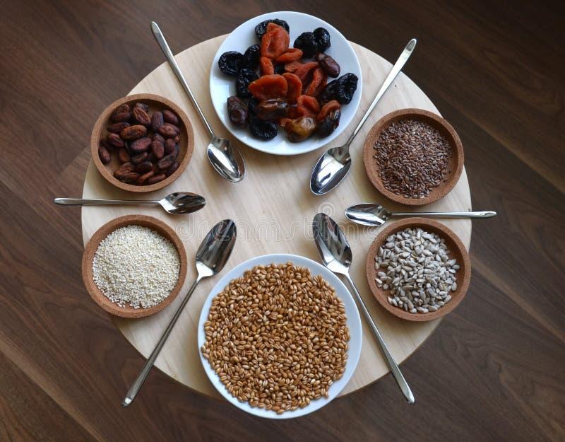 Consumición sana, comida cruda foto de archivo