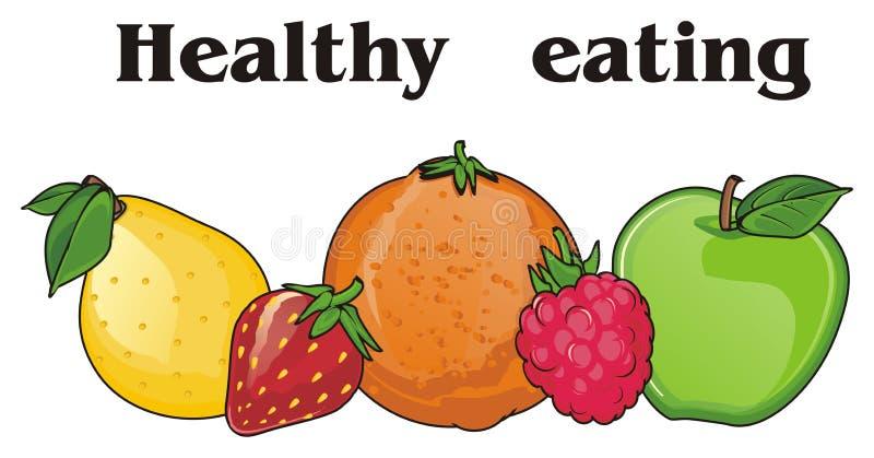 Consumición sana con las frutas libre illustration