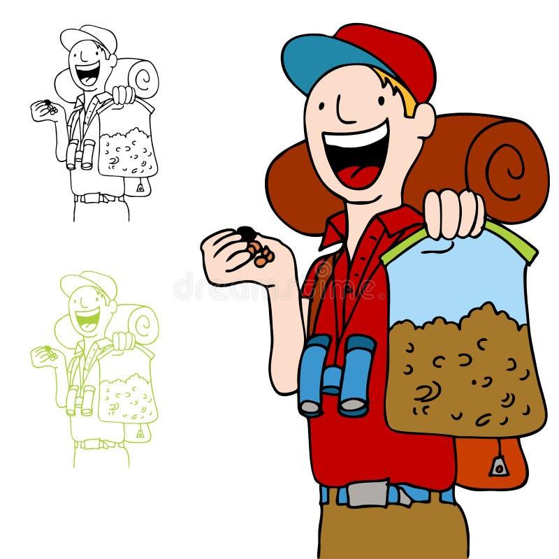 Consumición Trailmix del caminante ilustración del vector