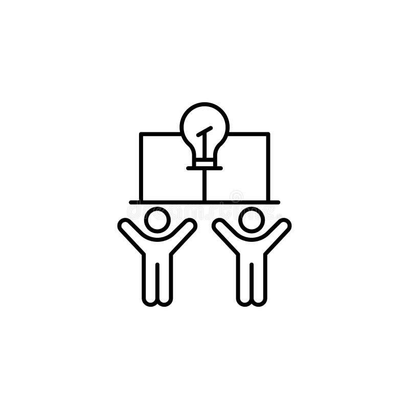 Consumidor, icono de la bombilla Elemento de la línea icono del comportamiento de consumidor stock de ilustración