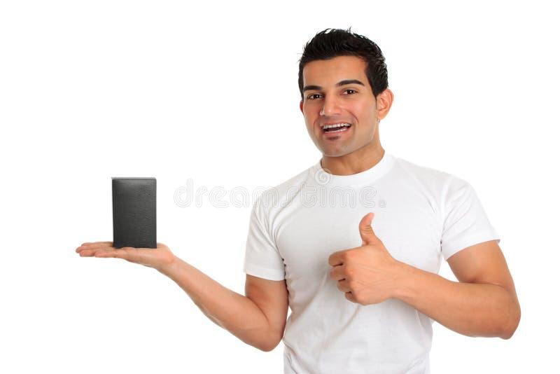 Consumidor o vendedor con el producto fotografía de archivo libre de regalías