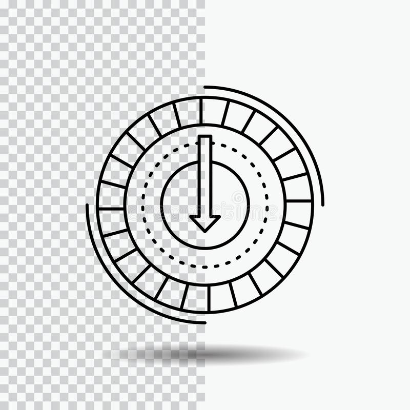 Consumption, cost, expense, lower, reduce Line Icon on Transparent Background. Black Icon Vector Illustration. Vector EPS10 Abstract Template background vector illustration