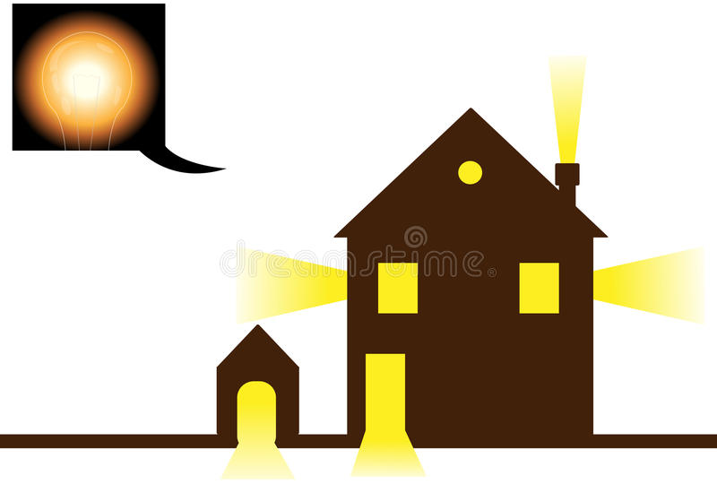 Download Consumption of electricity stock vector. Illustration of lamp - 24839877