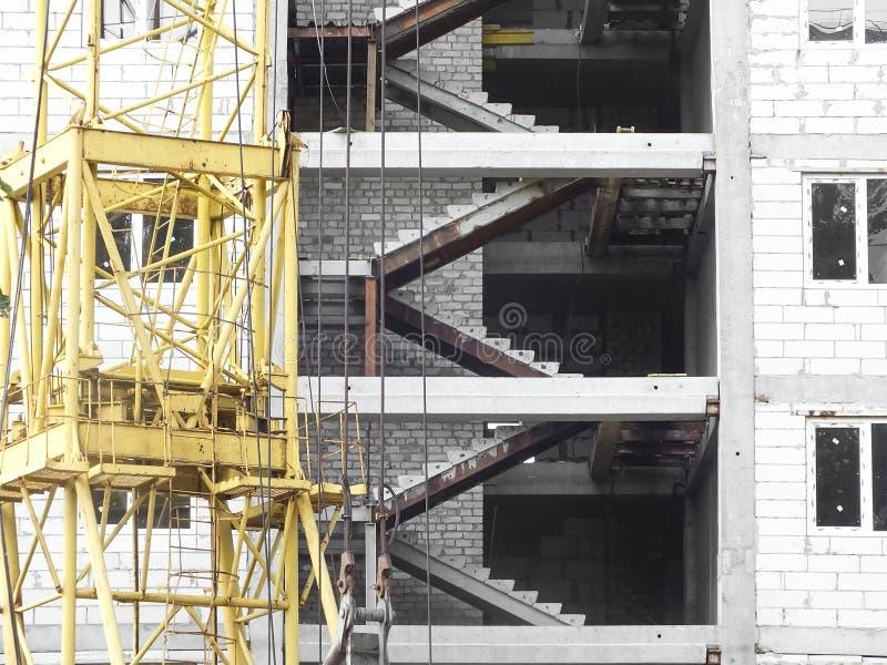 Consyructions-Standorthintergrund stockfotos
