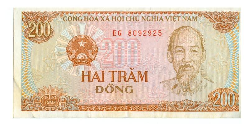 conta de 200 dongs de Vietnam foto de stock royalty free
