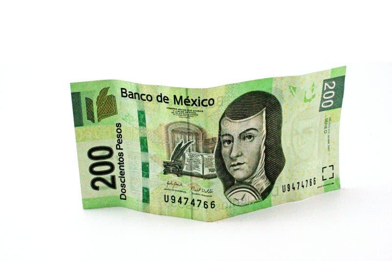 conta de 200 pesos fotografia de stock royalty free