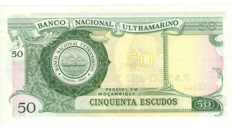 conta de 50 escudos de Mozambique   fotografia de stock royalty free