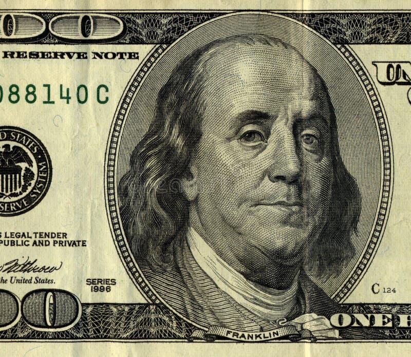 conta de dólar 100, Sr. Ben Frank foto de stock royalty free