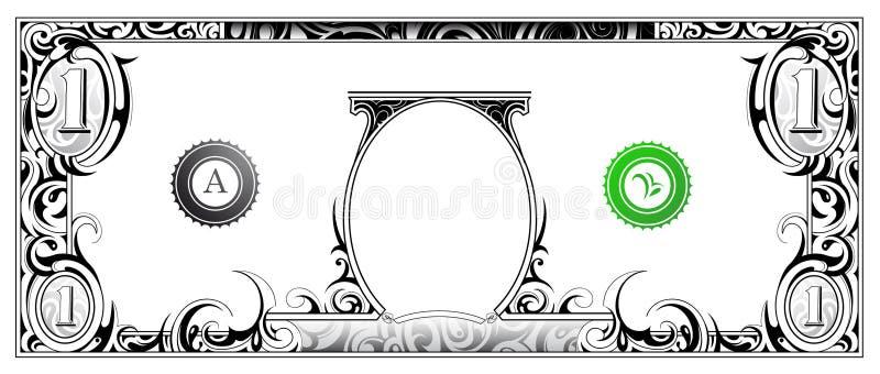 Conta de dólar ilustração do vetor