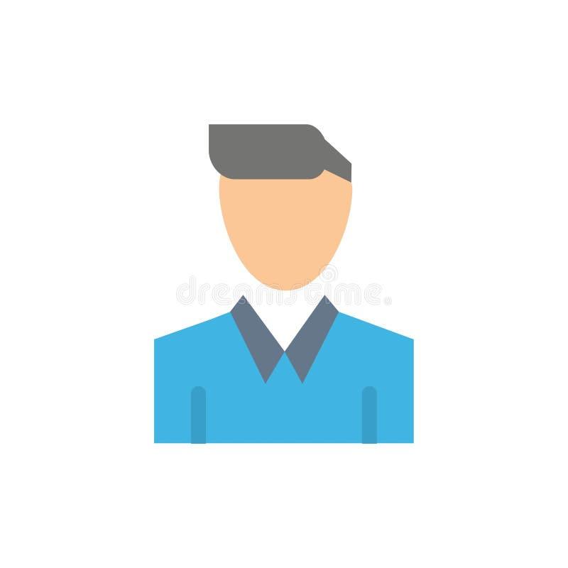 Conta, ser humano, homem, pessoa, ícone liso da cor do perfil Molde da bandeira do ícone do vetor ilustração do vetor
