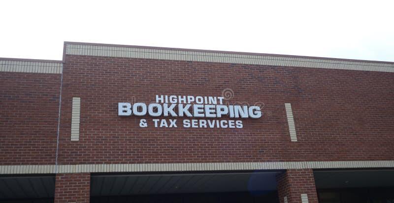 Contabilidad del Highpoint y servicio del impuesto, Arlington, TN foto de archivo