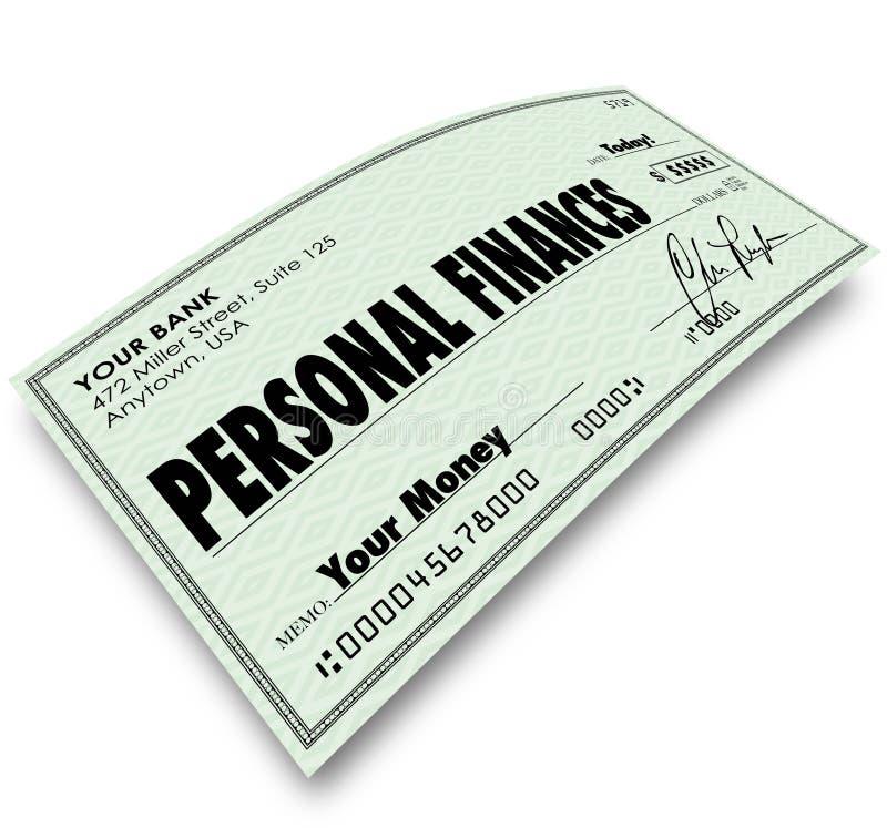 Contabilidade Accoun das despesas das contas pagando da verificação das finanças pessoais ilustração royalty free