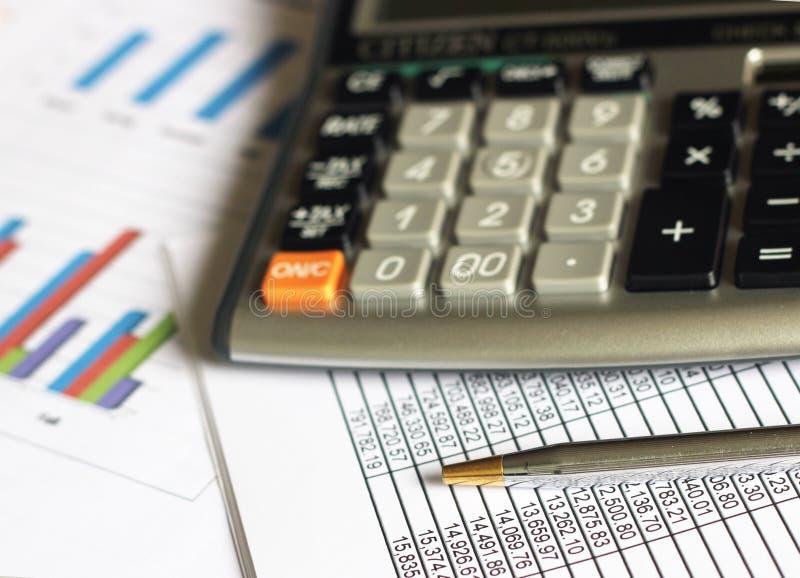 Contabilidade da análise financeira imagem de stock